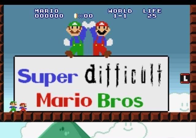 Mario Game: Super (Difficult) Mario Bros