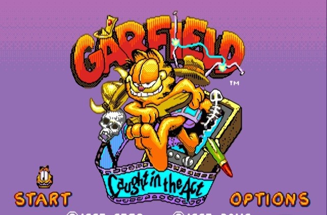 garfield caught in the act game gear emulator mac