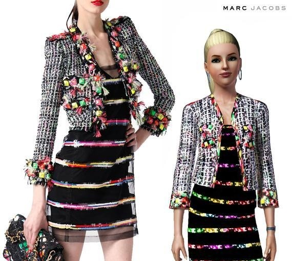 Sims3 - Marc Jacobs Tweed Cropped Jacket