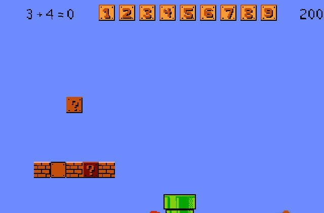 Also see like mario game super mario bros speed math