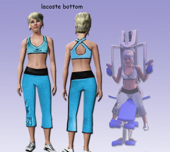Sims3 - LaCosTe Athletic & Everyday Bottom