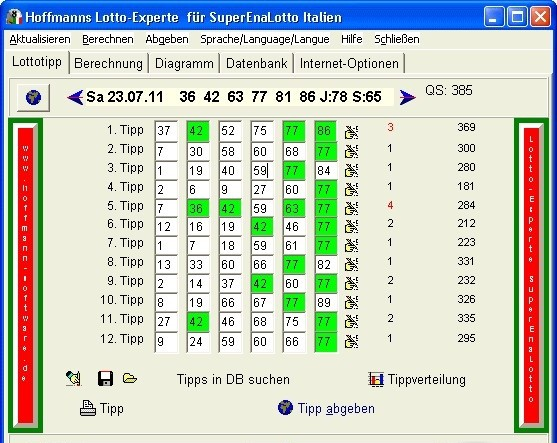 Hoffmanns Lotto-Experte SuperEnaLotto