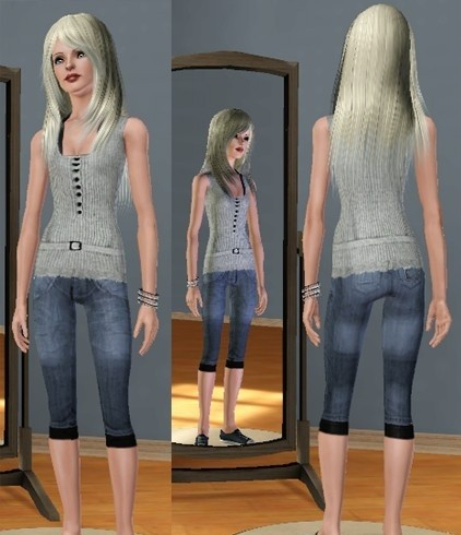 Sims3 - Everiday Outfit (jeans and tank top)