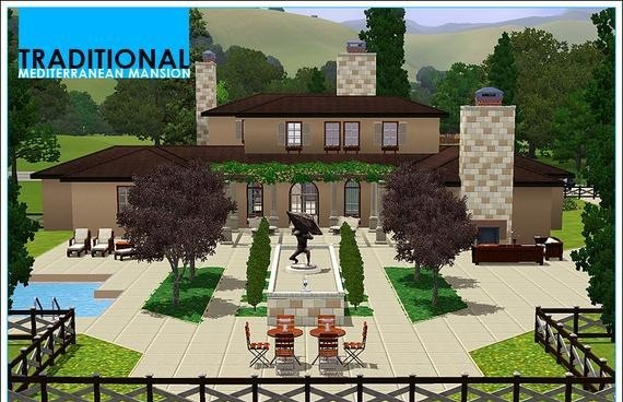 Sims3 - Traditional Mediterranean Mansion