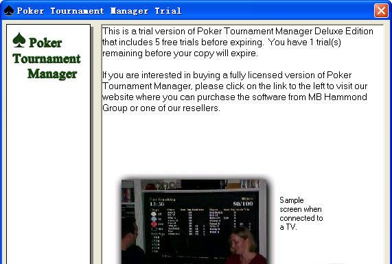Online poker tournament manager