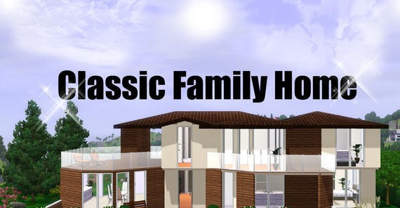 Sims3 classic family home fully furnished lisisoft for Classic family home