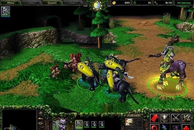 Also see - like Warcraft III: Reign of Chaos Patch 1.25b-1.26a French
