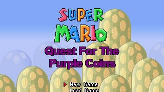 Mario Game: Super Mario - Quest for the Purple Coins